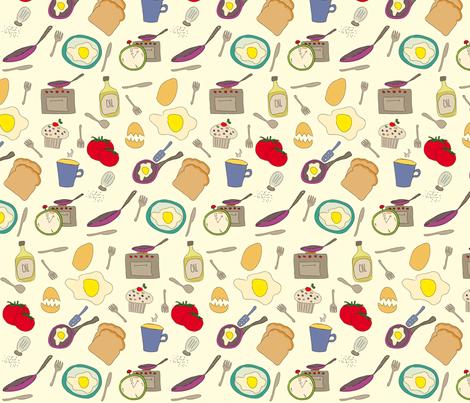 Sunny Side Up fabric by ksenija on Spoonflower - custom fabric