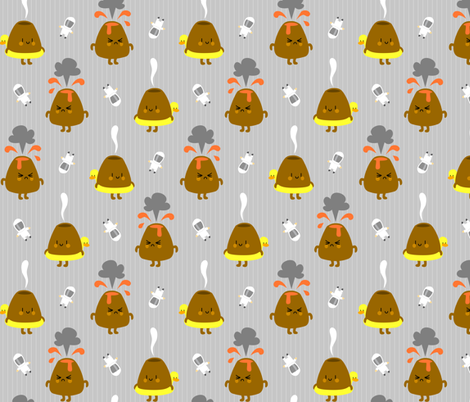 Volcanology fabric by petitspixels on Spoonflower - custom fabric