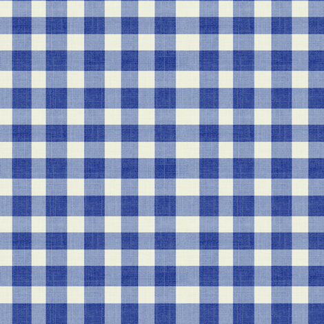 Le Navy Gingham fabric by ragan on Spoonflower - custom fabric