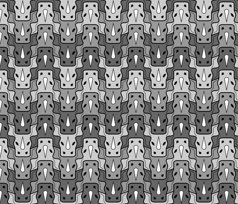 rhino head 3 fabric by sef on Spoonflower - custom fabric