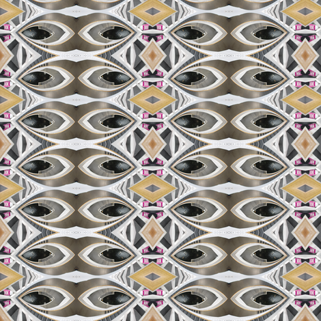 cross eyed fabric by walkwithmagistudio on Spoonflower - custom fabric