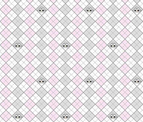 Owlgyle fabric by ilikemeat on Spoonflower - custom fabric