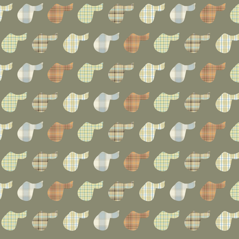 Plaid Saddles - the softer side fabric by ragan on Spoonflower - custom fabric