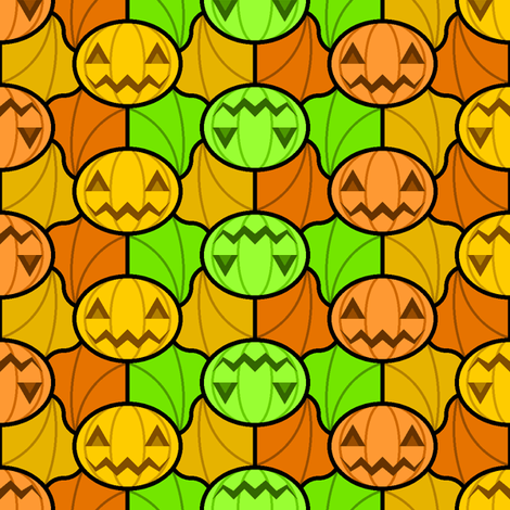 pumpkinbat 3 fabric by sef on Spoonflower - custom fabric