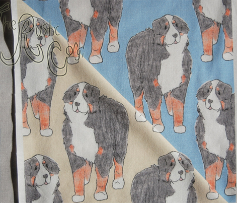 Standing Bernese mountain dog sketch - tan