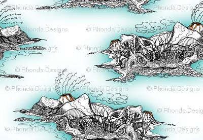Nature's Cauldron - Volcanic Island Seascape