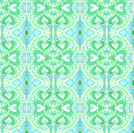My Heart is in the Bubble of Love fabric by edsel2084 on Spoonflower - custom fabric