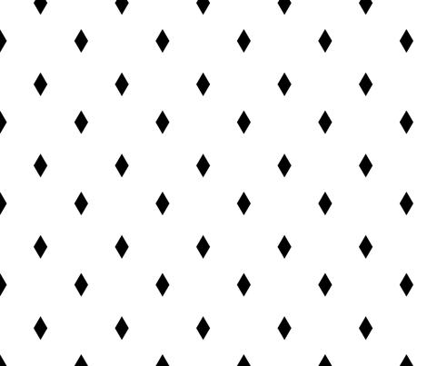 black diamonds fabric by alihenrie on Spoonflower - custom fabric