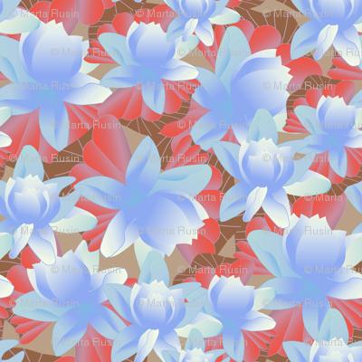 lotus in blue