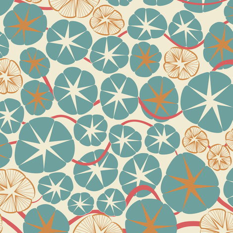 VintageOceana fabric by modernprintcraft on Spoonflower - custom fabric