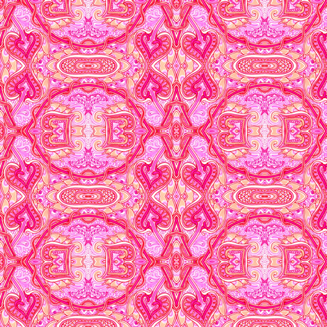 Hot Pink Romance fabric by edsel2084 on Spoonflower - custom fabric