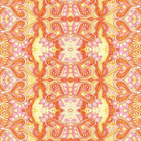 Orange Sherbet Valentine fabric by edsel2084 on Spoonflower - custom fabric