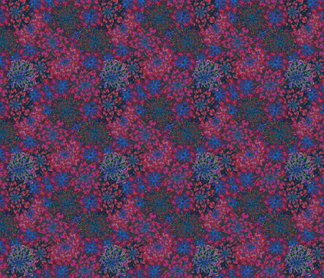 a floral tapestry fabric by glimmericks on Spoonflower - custom fabric