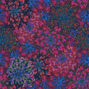 a floral tapestry
