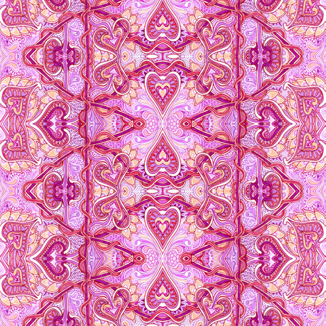 Those Overly Romantic Victorians (a vertical stripe) fabric by edsel2084 on Spoonflower - custom fabric