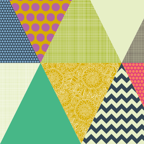 New York Beauty triangles fabric by scrummy on Spoonflower - custom fabric