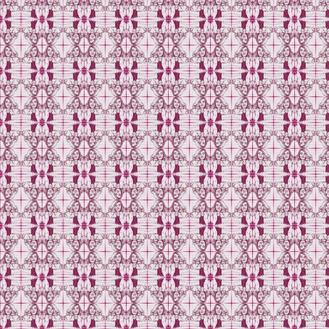 Marginalia in Mesopotamian History class - magenta fabric by walkwithmagistudio on Spoonflower - custom fabric