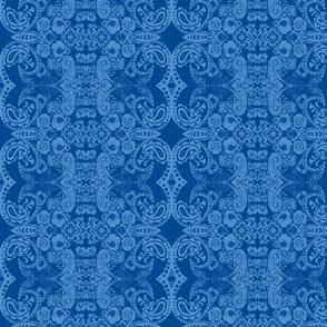 Floral Blue Bandana