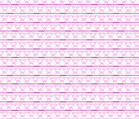 Pink Dancing Hearts fabric by olumna on Spoonflower - custom fabric