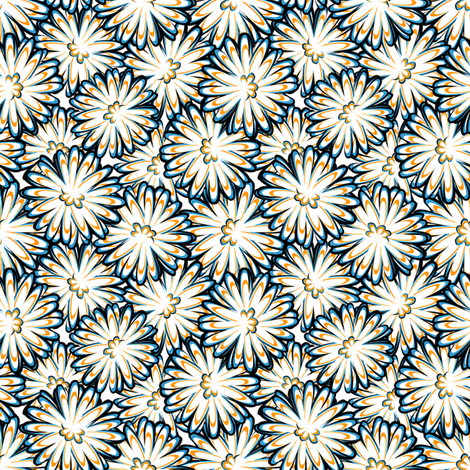 daisy mums fabric by glimmericks on Spoonflower - custom fabric
