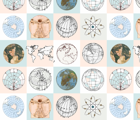 Earth ball fabric by lucybaribeau on Spoonflower - custom fabric