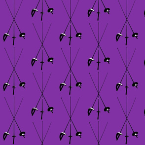 Foil, Epee, Sabre, Purple