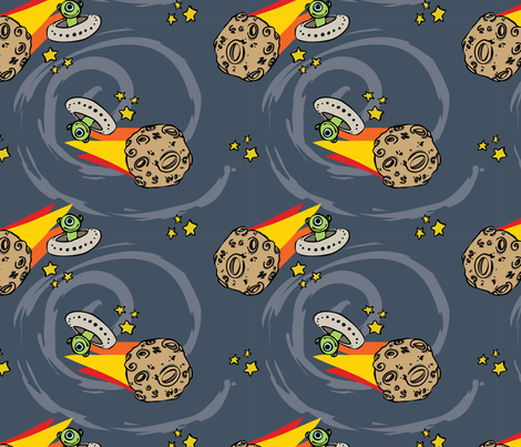 Meteor-ology fabric by shellimakesstudio on Spoonflower - custom fabric