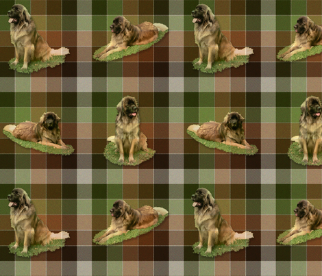 Leonberger Tartan - large fabric by bonnie_phantasm on Spoonflower - custom fabric