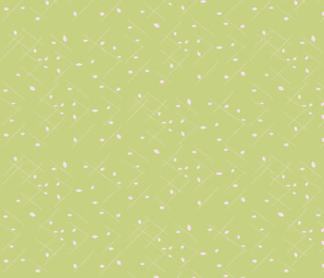 Twig_Leaf_Lime fabric by roxanne_lasky on Spoonflower - custom fabric