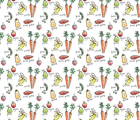 Sad strawberry fabric by elainethebrain on Spoonflower - custom fabric