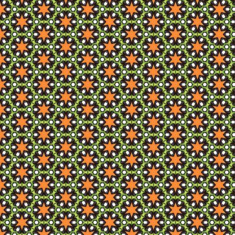 Pariku's Orange Star fabric by siya on Spoonflower - custom fabric
