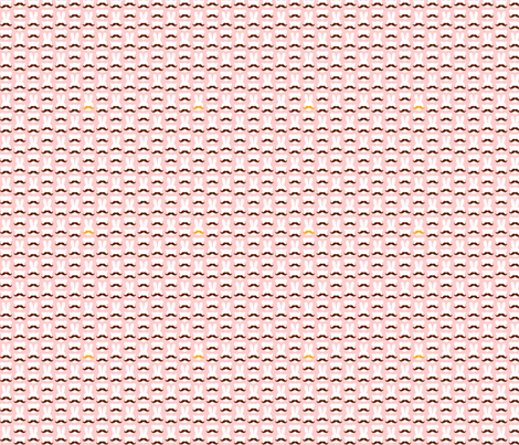 Animals with mustaches - pink fabric by elainethebrain on Spoonflower - custom fabric