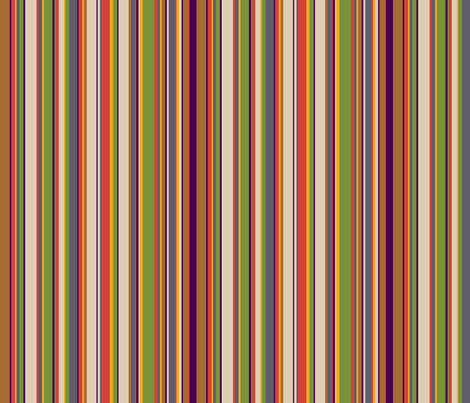 Fourth Doctor Scarf Stripes fabric by risarocksit on Spoonflower - custom fabric