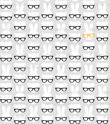 Animals with glasses - grey