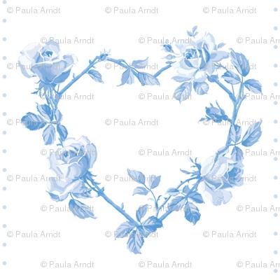 Swedish Folk Heart Wreath in Blueberry Blue