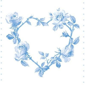 Swedish Folk Heart Wreath in Blueberry Blue