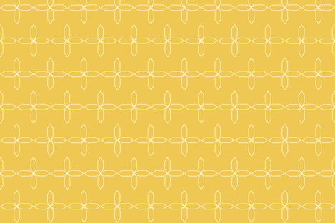 lattice_star_fall_yellow fabric by bexcaliber on Spoonflower - custom fabric