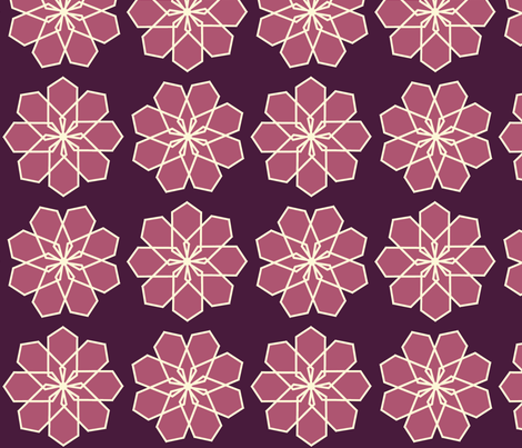 Plum and Maroon Modern Flower fabric by bexcaliber on Spoonflower - custom fabric