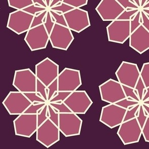 Plum and Maroon Modern Flower
