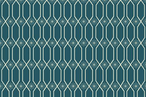 fall_cream_trellis fabric by bexcaliber on Spoonflower - custom fabric