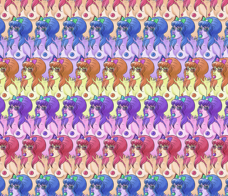 Nudist Beach fabric by rosalarian on Spoonflower - custom fabric