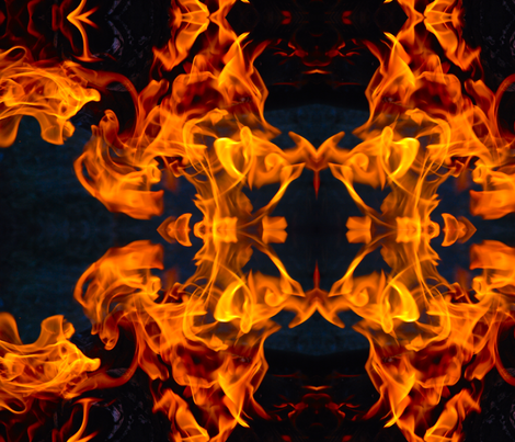 Fire fabric by walkwithmagistudio on Spoonflower - custom fabric