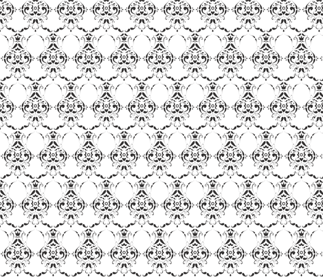 Moustache_damask fabric by crowlands on Spoonflower - custom fabric