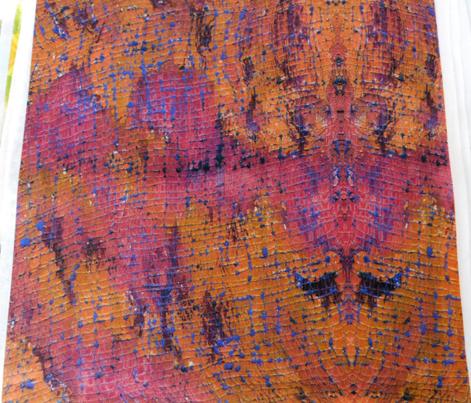 Rusty Orange Textured