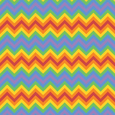 Rainbow Chevron fabric by robyriker on Spoonflower - custom fabric