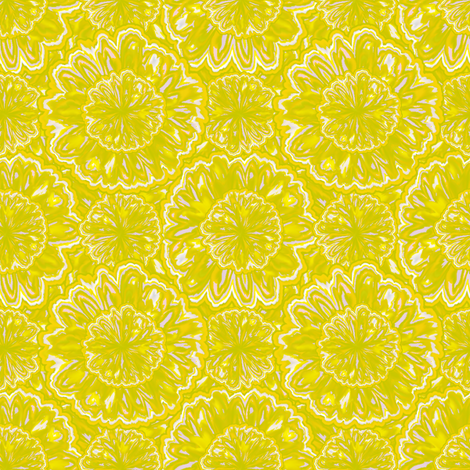 tie-died_jonquils -  sunshine fabric by glimmericks on Spoonflower - custom fabric