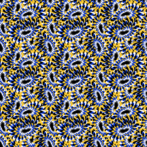 marbled mums -  blue canary fabric by glimmericks on Spoonflower - custom fabric