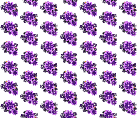 purple flowers 2 fabric by mojiarts on Spoonflower - custom fabric