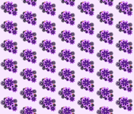 purple flowers 3 fabric by mojiarts on Spoonflower - custom fabric