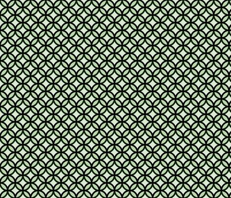 circles diamonds moss green fabric by mojiarts on Spoonflower - custom fabric